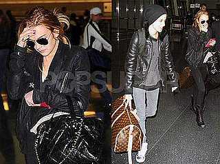 Photos of Lindsay Lohan and Samantha Ronson at JFK Airport