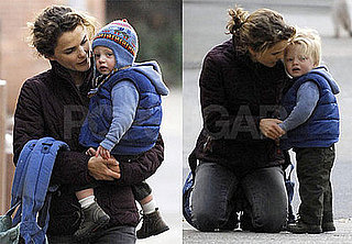 Photos of Keri Russell and Son River Deary Walking in Brooklyn