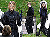 Photos of Blake Lively, Ed Westwick, Chace Crawford, Penn Badgley, Leighton Meester at a Cemetery on the Set of Gossip Girl