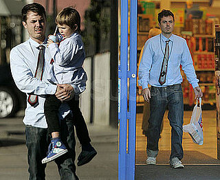 Photos of Casey Affleck, Indiana Affleck, Atticus Affleck, Summer Phoenix in LA