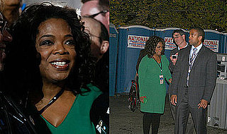 Photos of Oprah Winfrey Using a Porta-Potty