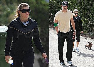 Photos of Josh Duhamel and Fergie With Their Dog