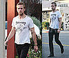 Photos of Ryan Gosling Wearing a T-Shirt With a Giant Hole
