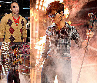 Photos of Rihanna and Chris Brown Rehearsing For the American Music Awards