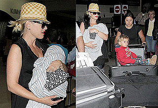 Photos of Gwen Stefani, Kingston Rossdale and Zuma Rossdale at LAX