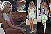 Photos of Heidi Klum Shooting a Commercial in LA