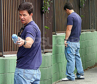 Photos of Mark Wahlberg Urinating On A Wall in LA