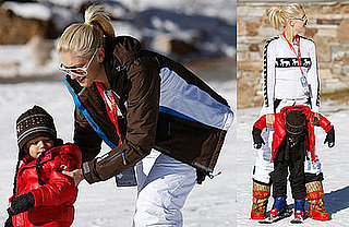 Photos of Gwen Stefani, Gavin Rossdale, and Kingston Rossdale Skiing in Utah