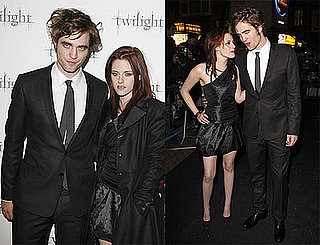 Photos of Robert Pattinson and Kristen Stewart at the London Premiere of Twilight