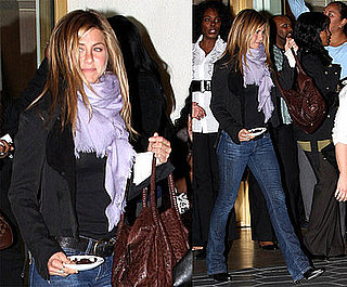 Photos of Jennifer Aniston Leaving the Sunset Towers in LA