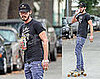Photos of Shia LaBeouf Riding a Skateboard in LA