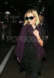 Reese at LAX in Purple Scarf