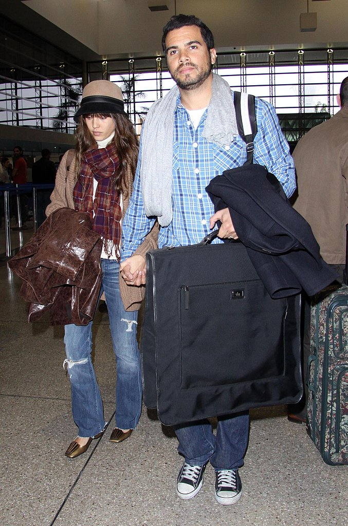 Jessica Alba and Cash at Airport