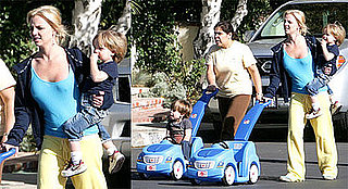 Photos of Britney Spears Walkng With Sean Preston and Jayden James in LA