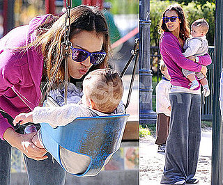 Photos of Jessica Alba and Honor Warren at the Park