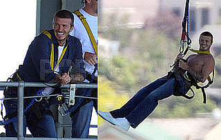 Photos of David Beckham Bungee Jumping in New Zealand
