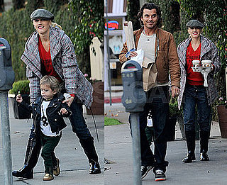 Photos of Gwen, Gavin and Kingston Rossdale Getting Coffee in LA