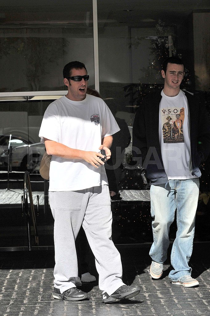 Adam Sandler Takes The Family to His Favorite Burger Place