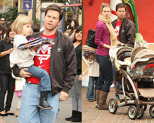 Photos of Mark Wahlberg, Rhea Durham, Ella Wahlberg at Santa's Grotto in LA