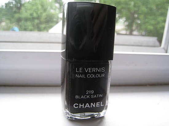 Chanel Black Satin Polish. $18.