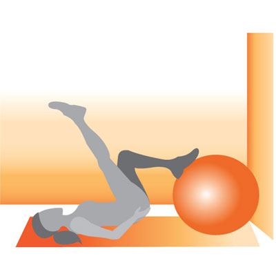 Hamstring Push-up on Ball