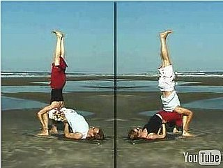 Partner Yoga Pose: Shoulderstand on Bridge