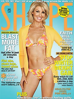 The Shape of Faith Hill's 41-Year-Old Bikini Body