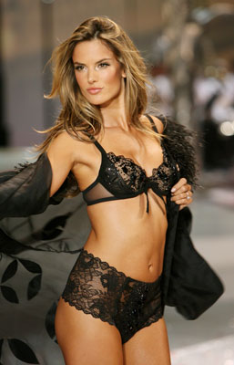 VS Angel Alessandra Ambrosio Struts Her Post-Baby Bod