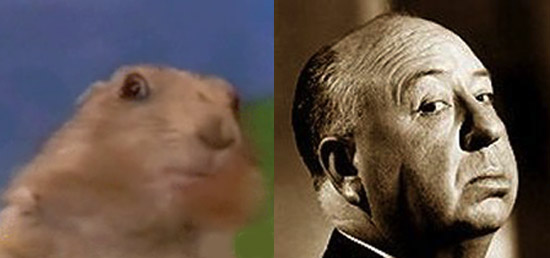 The Dramatic Chipmunk and Alfred Hitchcock