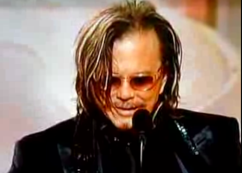 Mickey Rourke Thanks His Doggies!