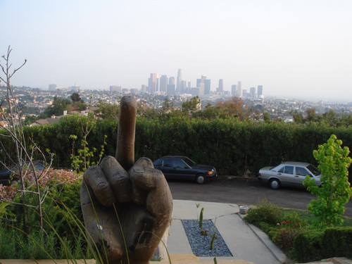 Dov Charney's House Flips LA the Bird
