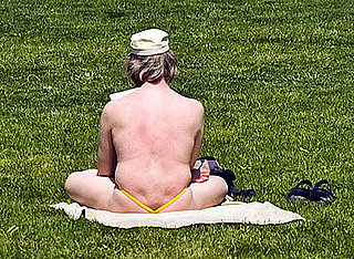 Gross Alert: Man Sunbathing in a Thong