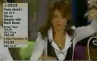 Paula Abdul Wigging Out on QVC