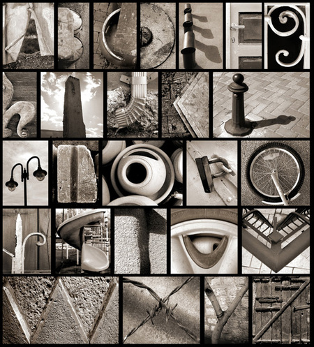 Found objects alphabet.