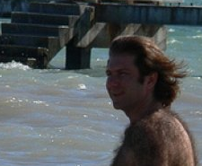 Hairy Dude on the Beach