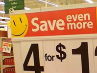Wal-Mart Sale Sign