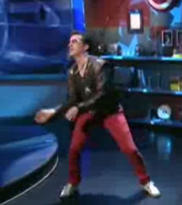Stephen Colbert Has a DDR Dance-Off With Korean Pop Star Rain