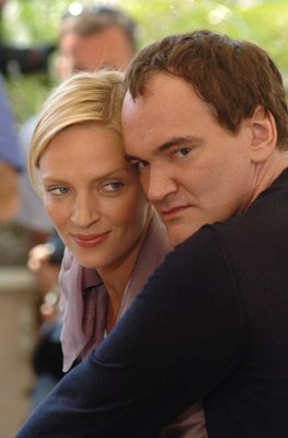 Quentin Tarantino and Uma Therman