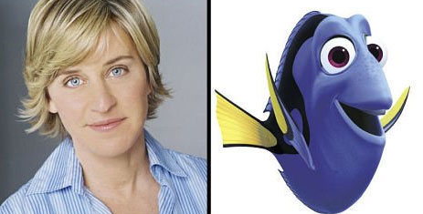 Ellen DeGeneres as Dory (Finding Nemo)