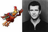 Mel Gibson as Rocky (Chicken Run)