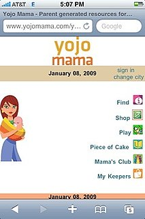 Yojo Mama: A Mobile Site For Parents on the Go