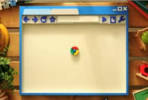 Cute Video For Google Chrome Shows Icon as Pinball Machine