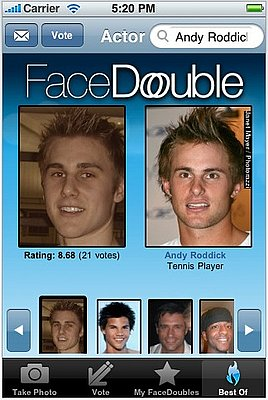 Face Double App Thinks You're Famous