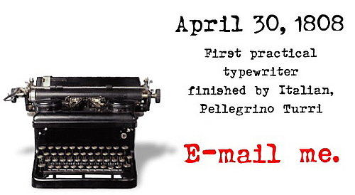 Happy Manual Typewriter Day!