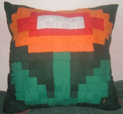 Fire Flower Pillow: Totally Geeky or Geek Chic?