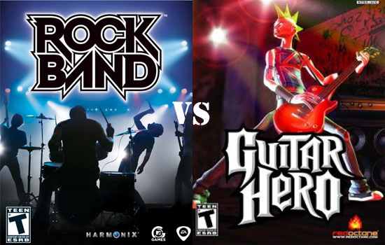 Rock Band or Guitar Hero