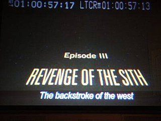 Backstroke of the West is Chinese English Translation of Revenge of the Sith