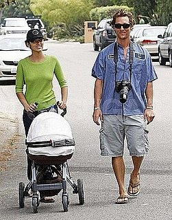 Matthew McConaughey Strolls with Camila Alves