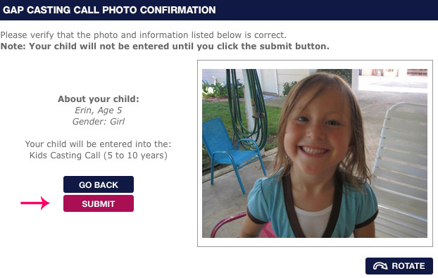 Step Four: Verify Your Photo and Info