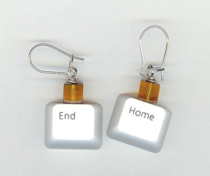 End and Home Keyboard Key Earrings